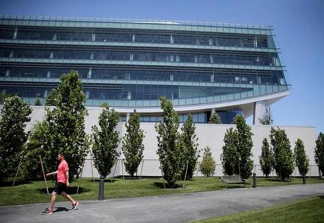 New Balance's headquarters anchor the 17-acre development.